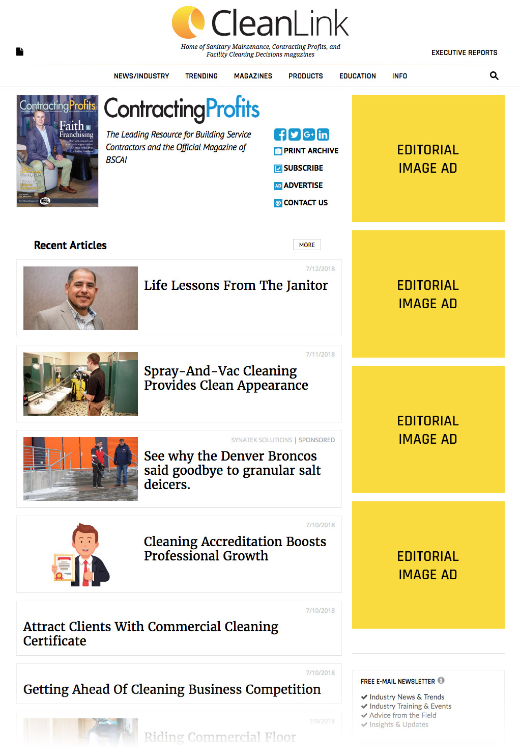 Editorial Image Ad Sample